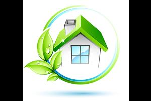 Logo ECO label - Milieu vriendelijk werken